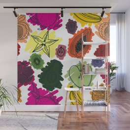 Colorful Fruit Cross Sections Surface Pattern Design Wall Mural