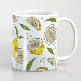 Blue Lemonade Pattern Coffee Mug