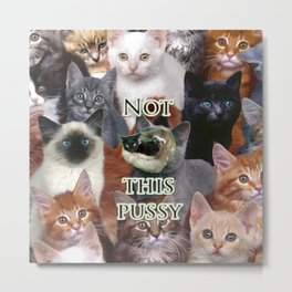Not This Pussy Metal Print