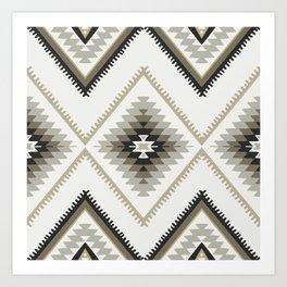 Beige Aztec Art Print