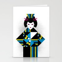 geisha Stationery Cards featuring GEISHA by Oscar Odd Diodoro