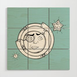 Motor Moon Wood Wall Art