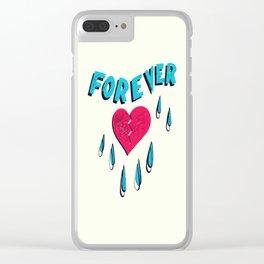 Forever HeartBroken Clear iPhone Case