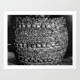 Barrel of Bones Art Print