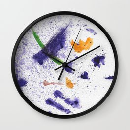 Watercolor Mania Wall Clock