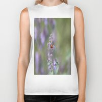 ladybug Biker Tanks featuring Ladybug by Stecker Photographie