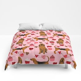 Bloodhounds cupcakes valentines day gifts dog lover pet friendly hearts dog breed Comforters