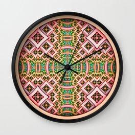 pOp. Abstract Pattern Design Wall Clock