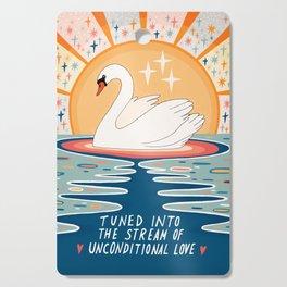 The stream of love Cutting Board