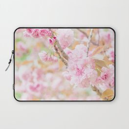 double cherry blossoms in japanese garden Laptop Sleeve