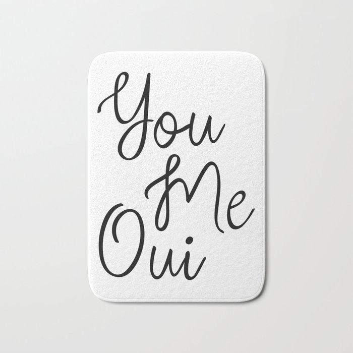 You Me Oui Love Quote Girly Wall Art French Words Romantic