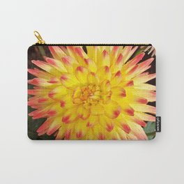 A Yellow Dahlia with Pink tips Carry-All Pouch