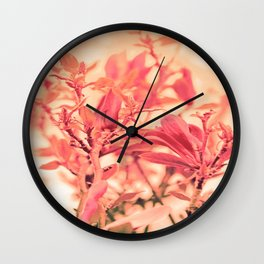 Magnolia Love in Apricot Wall Clock