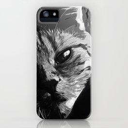 set your cat free vector art black white iPhone Case