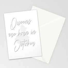 Queens are born in October design Stationery Cards
