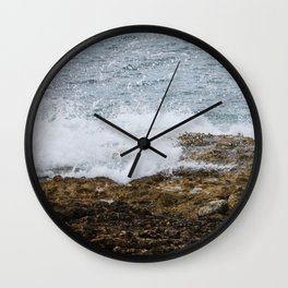 Splashing Ocean Wall Clock