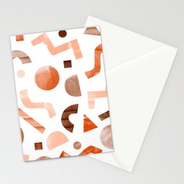 geometric shapes peach Stationery Cards