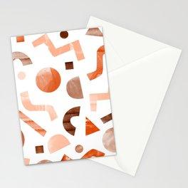 geometric shapes peach Stationery Cards