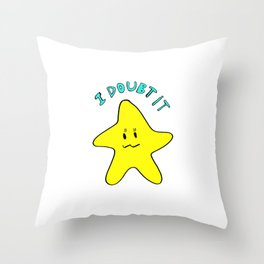 Skeptical star Throw Pillow