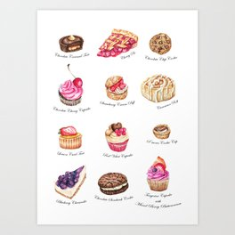 Cakes & Pastries #2 Art Print