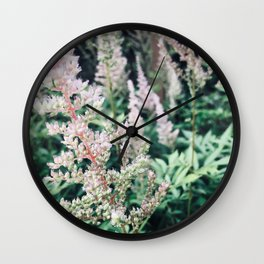 Flowers in the Garden Wall Clock