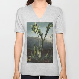 American Bog Plants from The Temple of Flora (1807) by Robert John Thornton. Unisex V-Neck