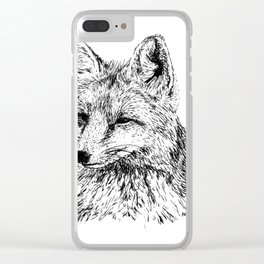Oh, For Fox Sake Clear iPhone Case