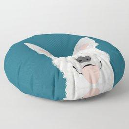 German Shepherd - White cute dog portrait Floor Pillow