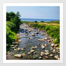 The water that leads to the atlantic ocean Art Print
