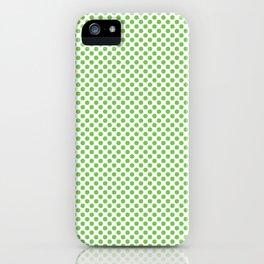 Green Flash Polka Dots iPhone Case