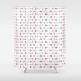 Stylized Flower Basket Seamless Pattern Shower Curtain
