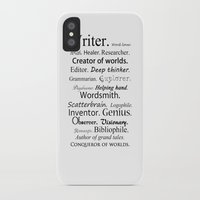 writer iPhone & iPod Cases featuring Writer by Thoughts from behind the Lens