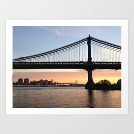 Manhattan Bridge at Sunrise Art Print