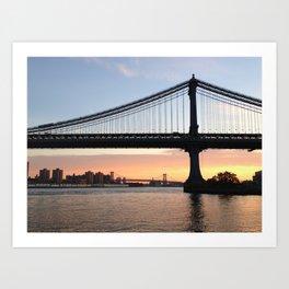 Manhattan Bridge at Sunrise Art Print