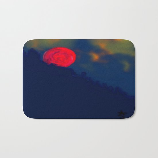 Red Moon Bath Mat