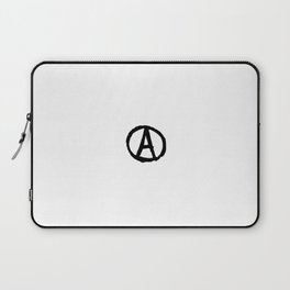 Symbol of anarchy bw Laptop Sleeve