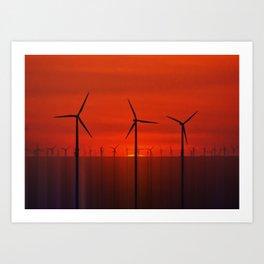 Wind Farms (Digital Art) Art Print