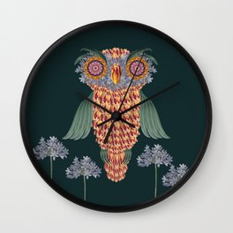 The owl of wisdom Wall Clock