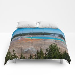 Grand Prismatic Spring, Yellowstone Comforters
