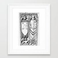 religious Framed Art Prints featuring Religious Monuments by Ouijawedge