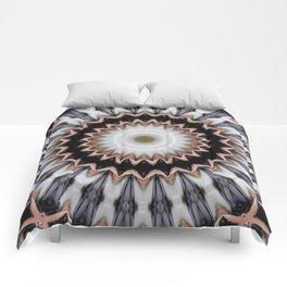 Abstract twined mandala Comforters