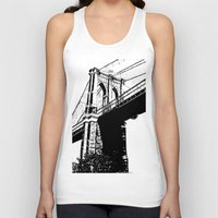 brooklyn bridge Tank Tops featuring Brooklyn Bridge by Massimiliano Bertozzi