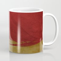 ironman Mugs featuring Ironman by whosyourdeddy