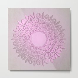 Abstract gradient mandala. Metal Print