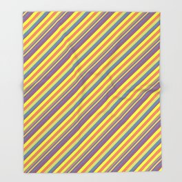 Summer Lights Inclined Stripe Throw Blanket