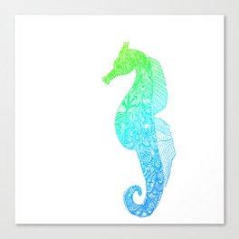Aqua Seahorse Canvas Print