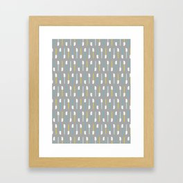 Spatula on Gray Framed Art Print