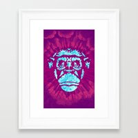 ape Framed Art Prints featuring Ape by NewFoundBrand