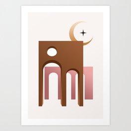 ARC MOON Art Print