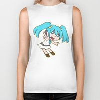 vocaloid Biker Tanks featuring Miku Miku by tees4weebs